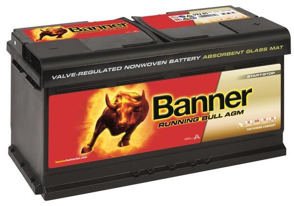 BANNER 92AH 850A RUNNING BULL AGM R+