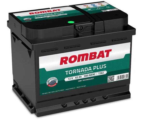 ROMBAT 62AH 560A TORNADA PLUS R+