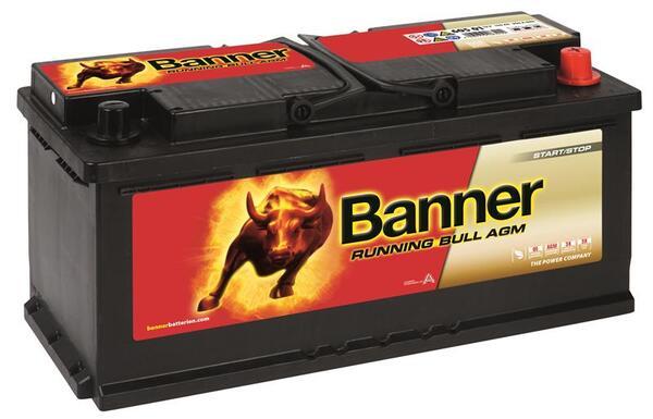 BANNER 105AH 950A RUNNING BULL AGM R+