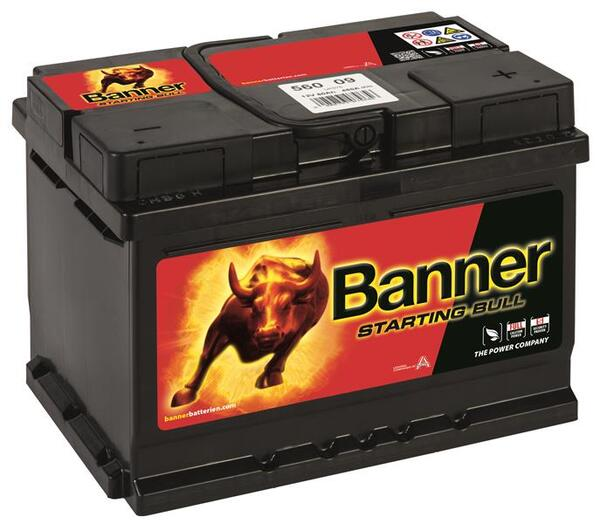 BANNER 60AH 480A STARTING BULL R+