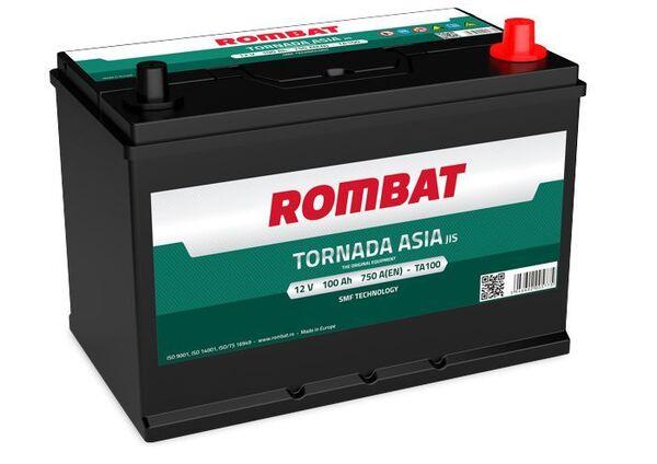 ROMBAT 100AH 750A TORNADA ASIA R+