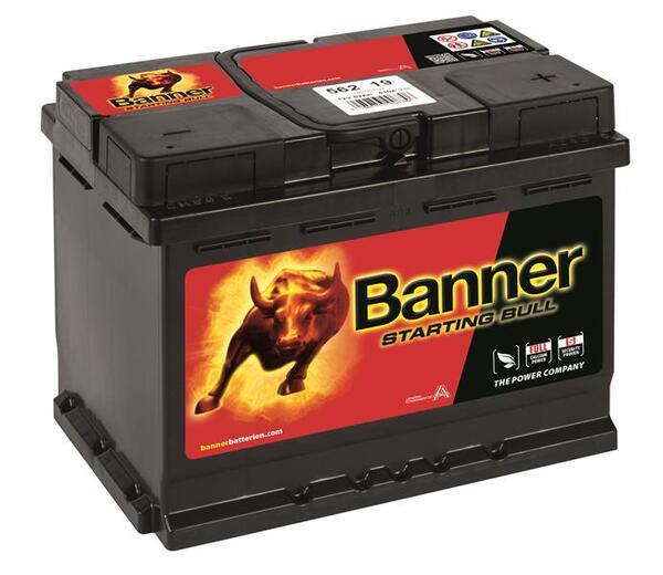 BANNER 62AH 480A STARTING BULL R+