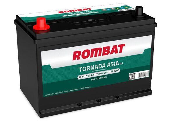 ROMBAT 100AH 750A TORNADA ASIA L+