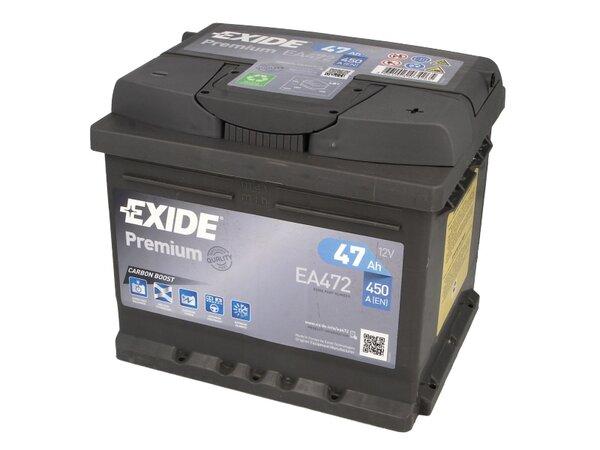EXIDE 47AH 450A PREMIUM R+