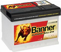 BANNER 60AH 560A RUNNING BULL EFB R+