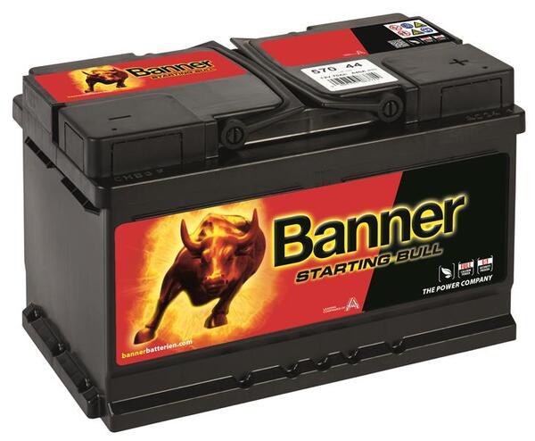 BANNER 70AH 640A STARTING BULL R+