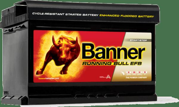 BANNER 65AH 650A RUNNING BULL EFB R+