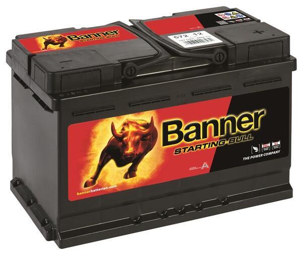 BANNER 72AH 650A STARTING BULL R+
