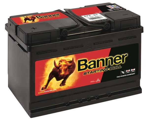 BANNER 72AH 650A STARTING BULL L+