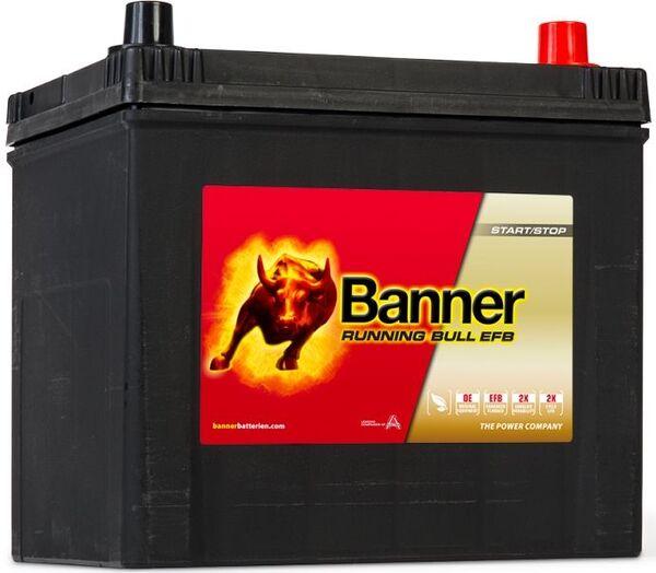 BANNER 65AH 550A RUNNING BULL EFB R+