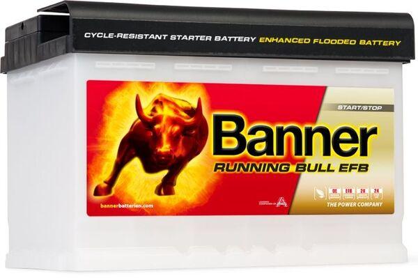 BANNER 70AH 660A RUNNING BULL EFB R+