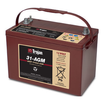 TROJAN 100AH DEEP-CYCLE BATTERIES AGM R+