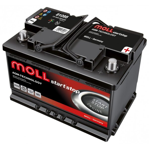 MOLL 95AH 850A AGM R+