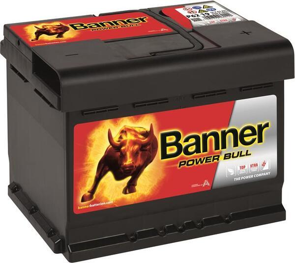 BANNER 62AH 550A POWER BULL R+