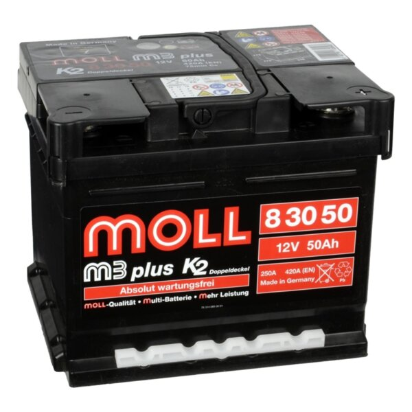 MOLL 50AH 420A M3PLUSK2 R+