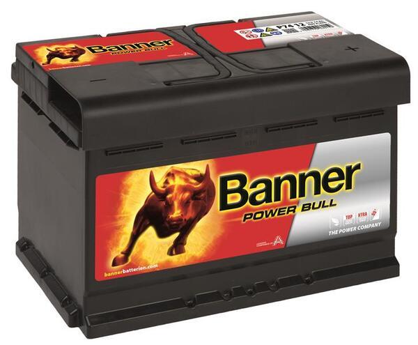 BANNER 74AH 680A POWER BULL R+