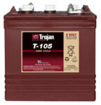 TROJAN 225AH 6 VOLT DEEP-CYCLE FLOODED BATTERIES - WITH T2 TECHNOLOGY R+