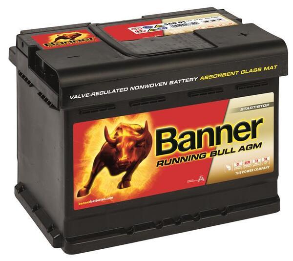 BANNER 60AH 640A RUNNING BULL AGM R+