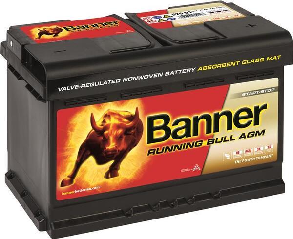 BANNER 70AH 720A RUNNING BULL AGM R+