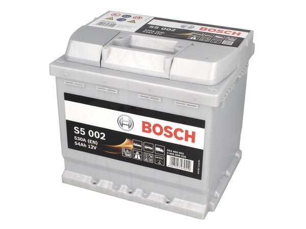 BOSCH 54AH 530A SILVER S5 R+