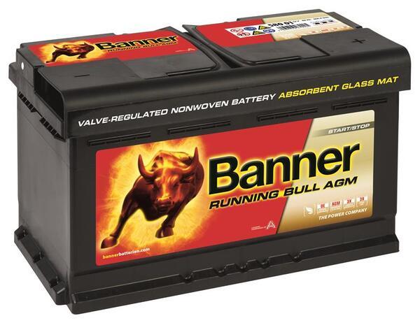 BANNER 80AH 800A RUNNING BULL AGM R+