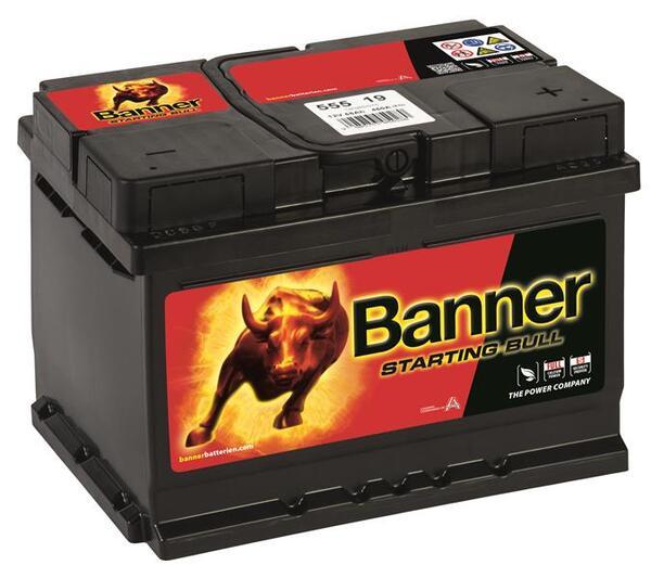 BANNER 55AH 450A STARTING BULL R+