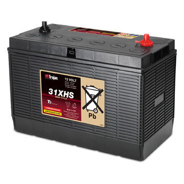 TROJAN 130AH 12 VOLT DEEP-CYCLE FLOODED BATTERIES - WITH T2 TECHNOLOGY R+