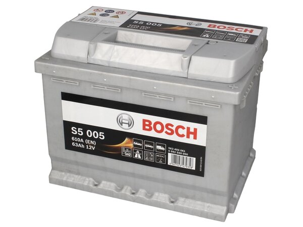 BOSCH 63AH 610A SILVER S5 R+