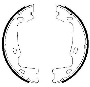 Комплект задни спирачни челюсти BOSCH