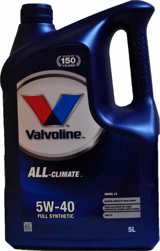 VALVOLINE VAL ALL CLIMATE DIESEL C3 5W40 5L SW