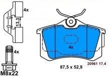 Комплект задни спирачни накладки ATE
