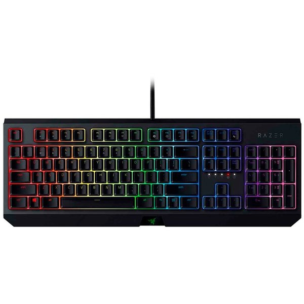 Razer BlackWidow, US Layout, Razer Green Mechanical Switches, 80 million keystroke lifespan, Fully Controllable Keys,Razer Chroma customizable backlighting with 16.8 million color options,