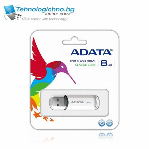 8GB USB 2.0 ADATA C906 White