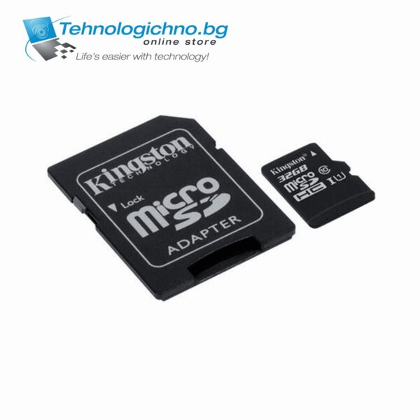 32GB microSDHC Class 10 UHS-I + Adapter Kingston