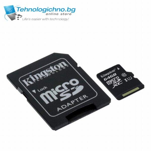 64GB MicroSD XC Kingston Class 10 Canvas