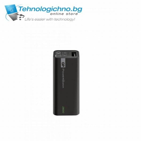 Външна батерия GP GPCC1C02000 2600mAh Черна