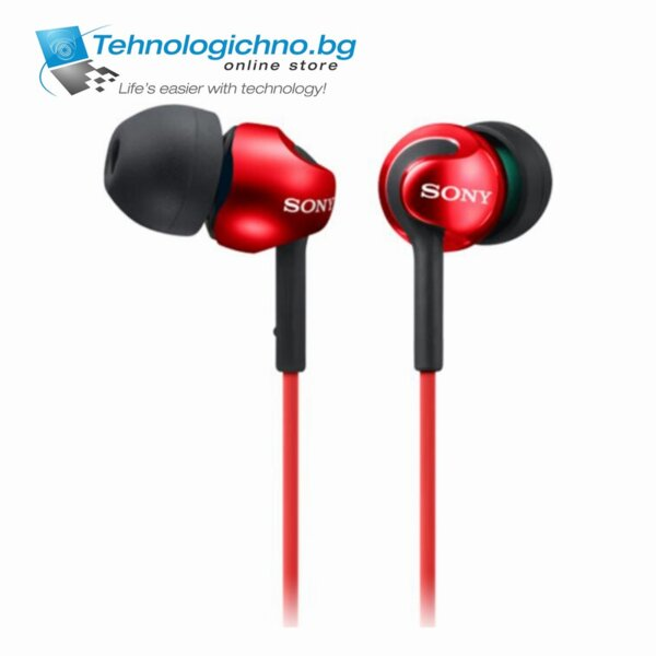 Sony Headset MDR-EX110AP red