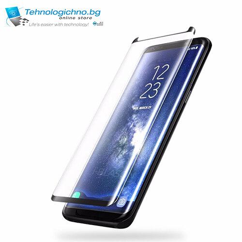 Стъклен протектор Samsung S8+ full cover silver