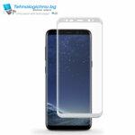 Стъклен протектор Samsung S8 full cover white