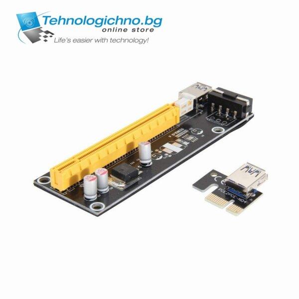 Video Card Extender PCI-E 1x to 16x 6Pin USB 3.0