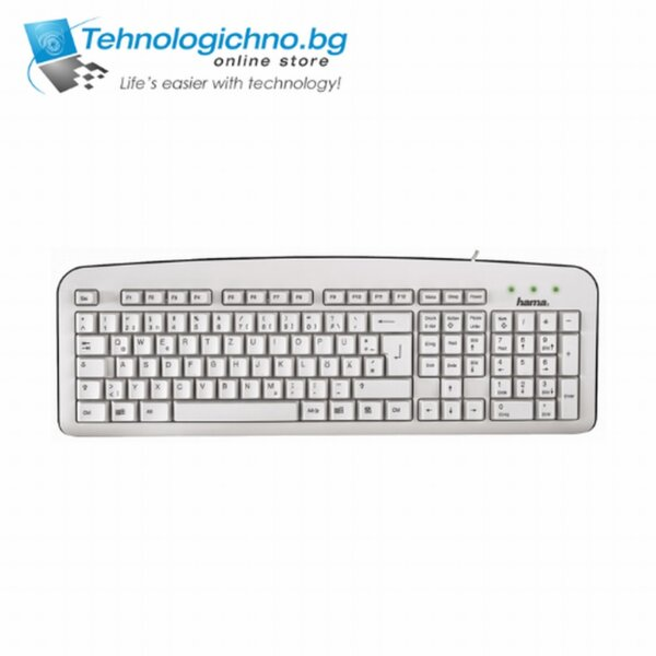 Клавиатура HAMA Silent Keyboard White