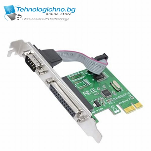 PCI-E to RS-232 + Parallel port