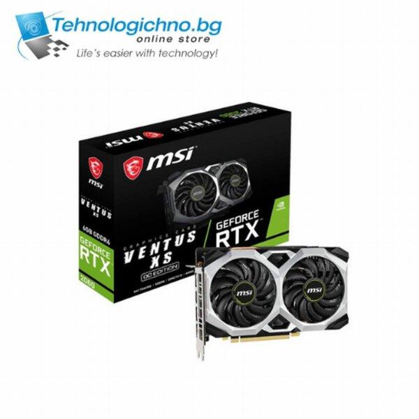 Видеокарта MSI RTX2060 Ventus XS 6G