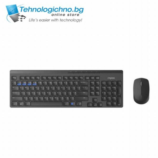 Rapoo 8100M БДС - Черен KBD + MS