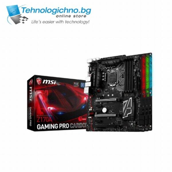 Дънна платка MSI Z170A Gaming Pro Carbon