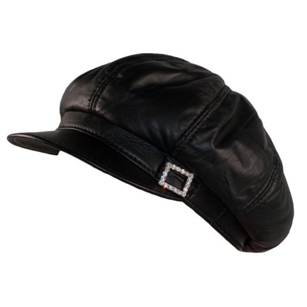 Дамски кожен каскет в 3 цвята   Womens Big BakerBoy Cap Leather Hat Newsboy  Vintage Slouchy 7216766720cb