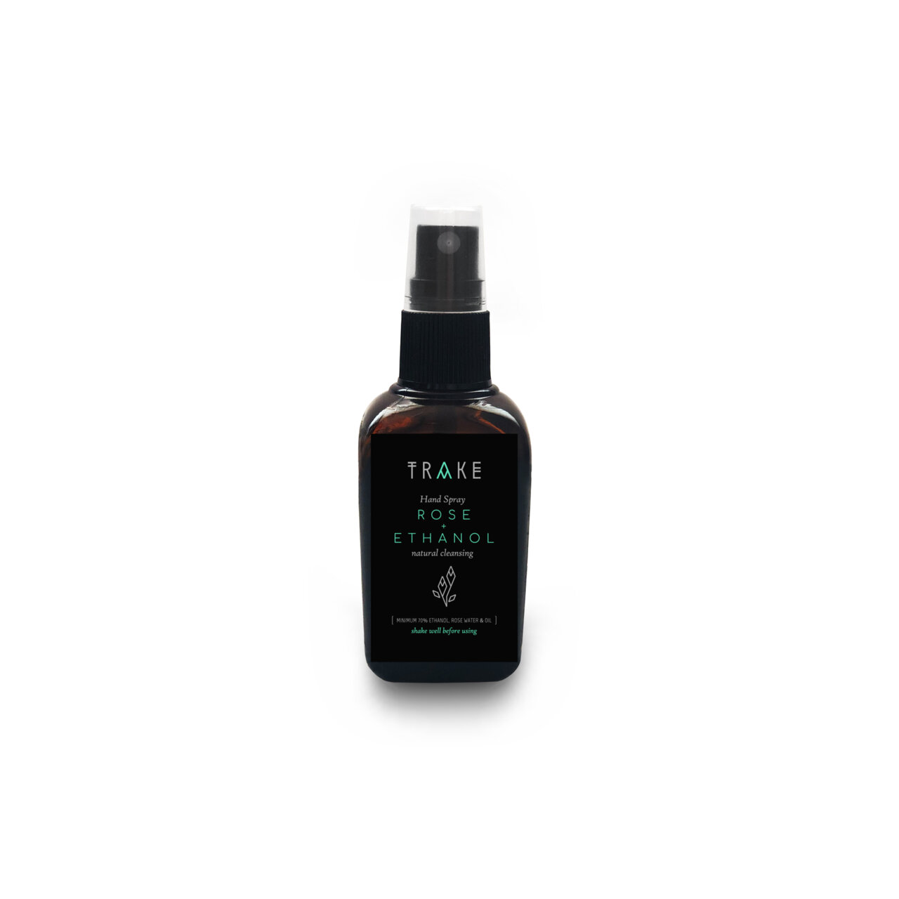 Natural hand cleansing spray for sale in a dark high-quality glass bottle