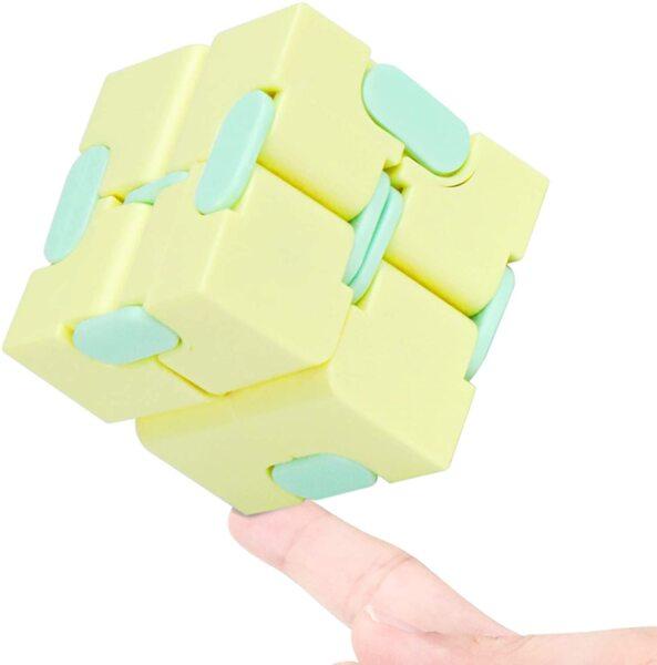 Анти-стрес Кубче Fidget Infinity - Жълто