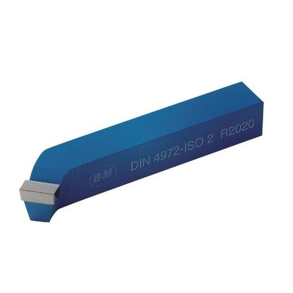 Стругарски нож проходен извит 20x20x125 десен P30 ISO2 DIN4972