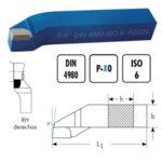 Стругарски нож проходен упорен 20x20x125 десен P30 ISO6 DIN4980